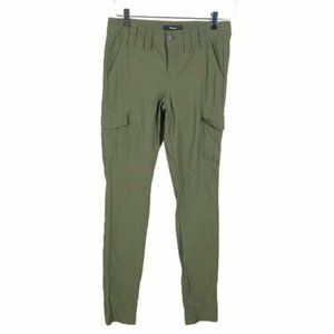 Express Womens Stretch Cargo Pants Size 2 Green